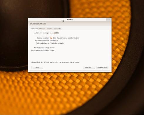 Deja Dup Ubuntu's official backup Program