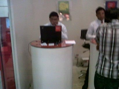 Vodafone staff biting nails