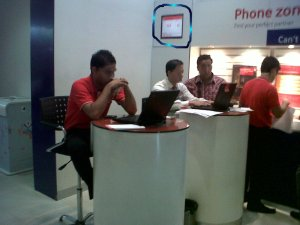 Vodafone employees at work