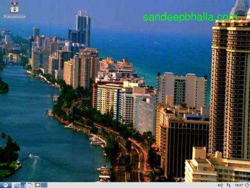 Miami wallpaper on Lubuntu