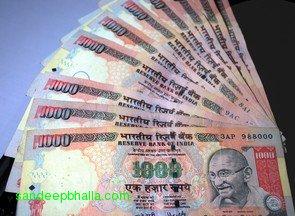 Rupee-INR-Gandhi-1000-currency-note