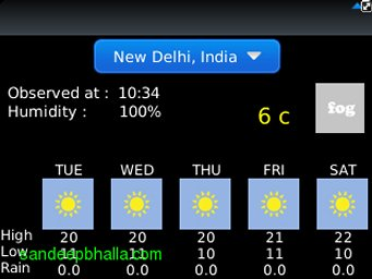 New Delhi Weather 01 Jan 2013