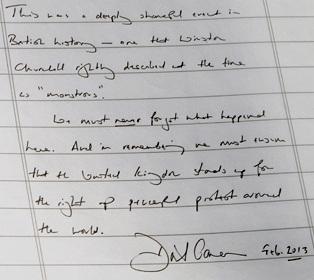 Note by Cameron at Amritsar - 2013