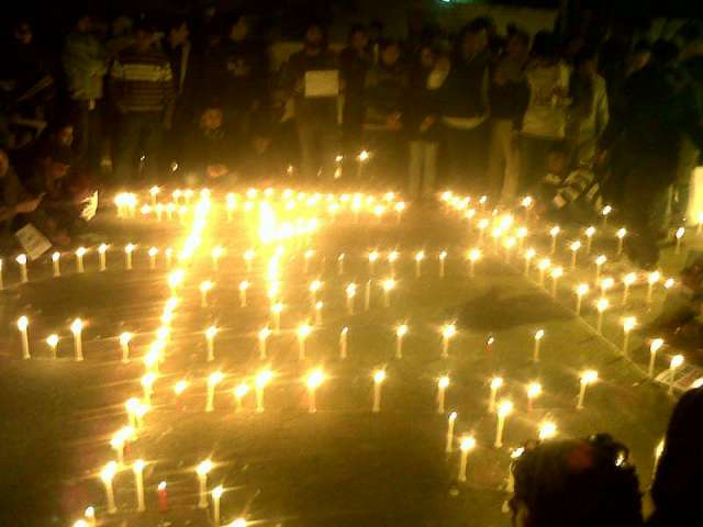 Protest at New Delhi Dec 2012 against Rape