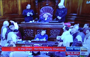 Ruckus in Parliament of India