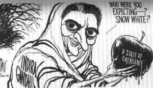Indira cartoon emergency 1975