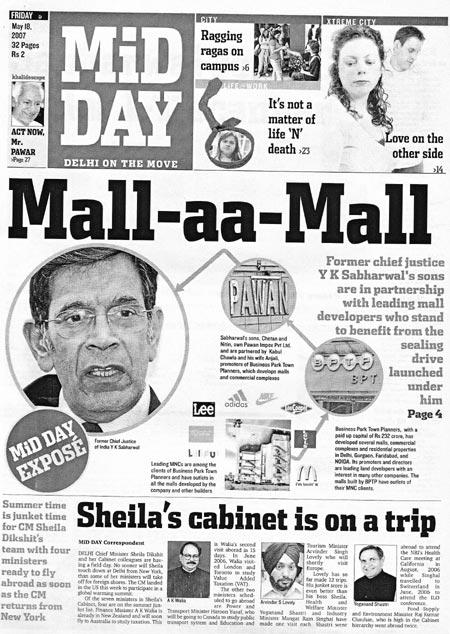 Mid Day expose of Y K Sabharwal
