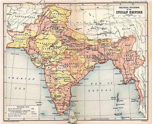 British Raj in 1909