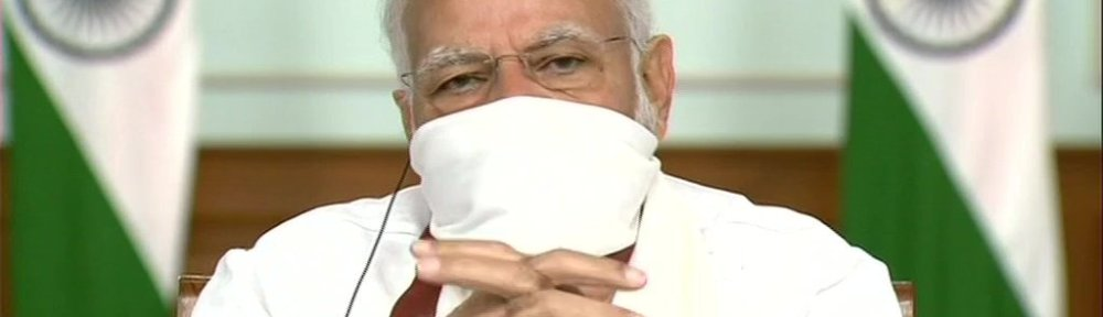 Narendra Modi with mask